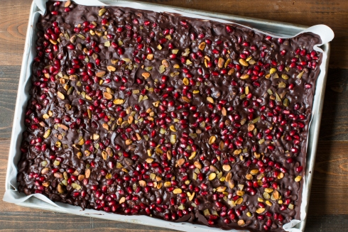 Chocolate Bark With Ginger And Pistachios Recipe — Dishmaps