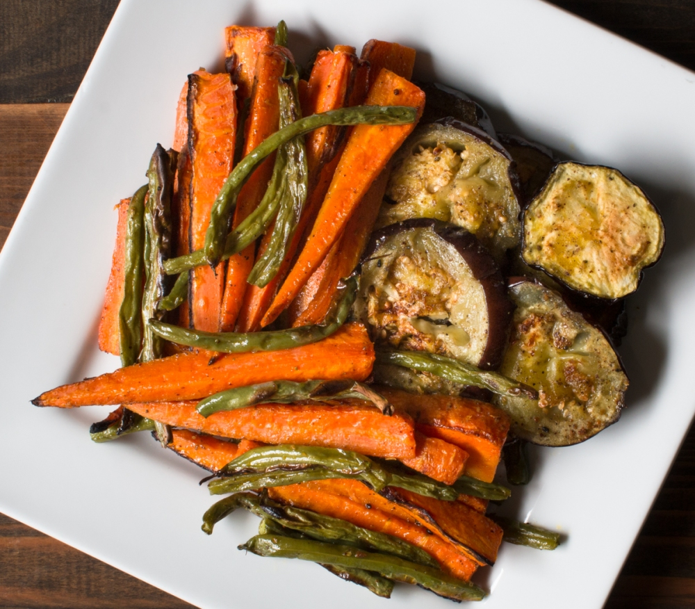 Roasted veggies with mustard oil and Indian five spice lr-8328