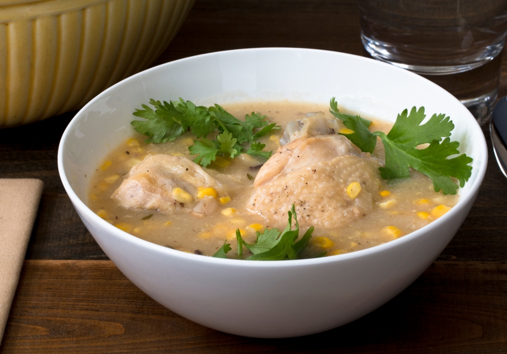 Chicken and sweet corn soup - shallow angle hr-9118
